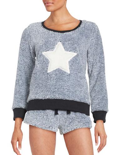 Roudelain Faux Fur Graphic Sweatshirt-BLACK-Medium 88659740_BLACK_Medium