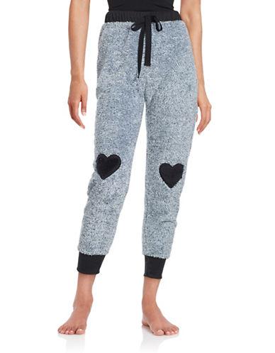 Roudelain Faux Fur Jogger Pants-BLACK-Large 88712343_BLACK_Large