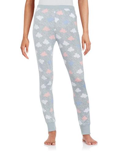 Roudelain Printed Pajama Pants-GREY-X-Large 88553935_GREY_X-Large