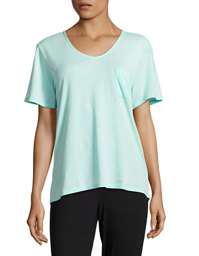 Roudelain Textured Pocket Tee-BLUE-Large