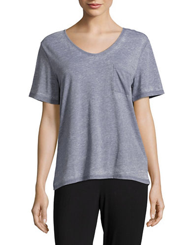 Roudelain Textured Pocket Tee-GREY-Small