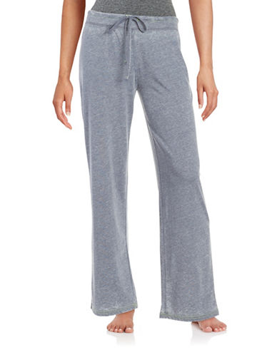 Roudelain Textured Drawstring Pants-GREY-X-Large 88914032_GREY_X-Large