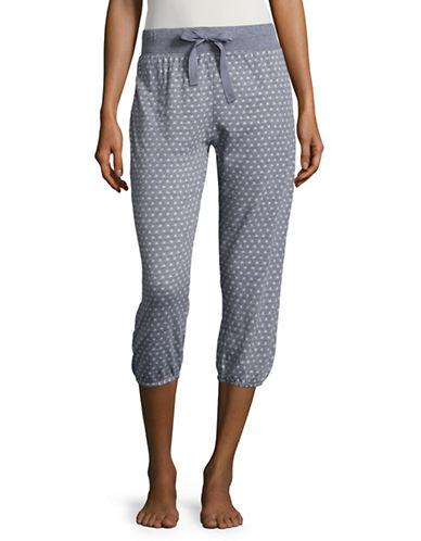 Roudelain Printed Pajama Pants-GREY-Medium 88914046_GREY_Medium