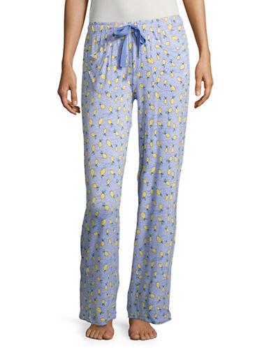 Roudelain Printed Pyjama Pants-BLUE-Large 89082124_BLUE_Large