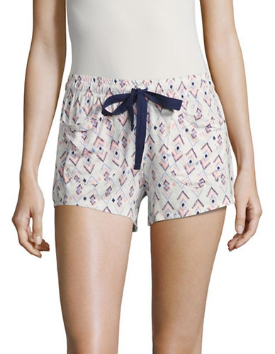 Roudelain Printed Sleep Shorts-WHITE MULTI-Large