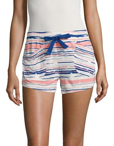 Roudelain Printed Sleep Shorts-WHITE PRINT-X-Large