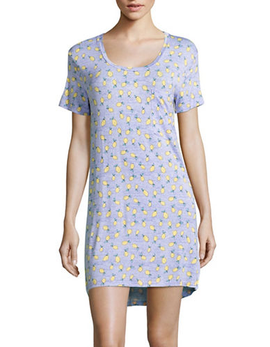 Roudelain Round Hi-Lo Stripe Sleepshirt-BLUE-Medium