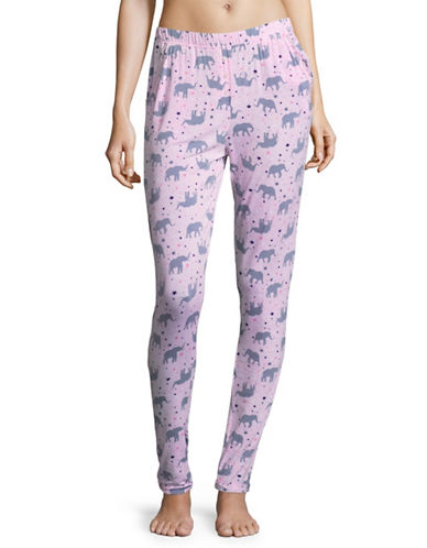 Roudelain Knit Jogger Pyjama Pants-PINK-Medium