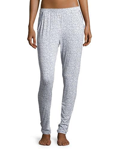 Roudelain Knit Jogger Pyjama Pants-GREY-Medium 89314783_GREY_Medium