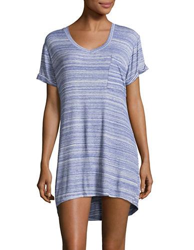 Roudelain V-Neck Sleepshirt-BLUE-Large