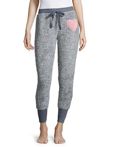 Roudelain Heather Plush Jogger Pants-FLINTSTONE-Medium