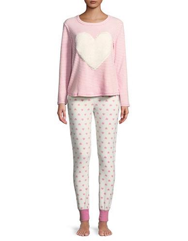 Roudelain Plush Printed Pyjamas-CAMEO PINK-Small