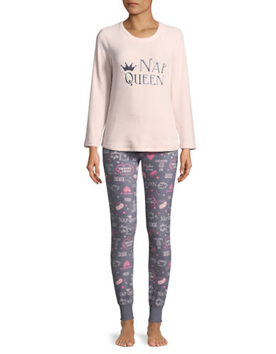 Roudelain Bad Hair Day Pyjama Set-GREY-Medium