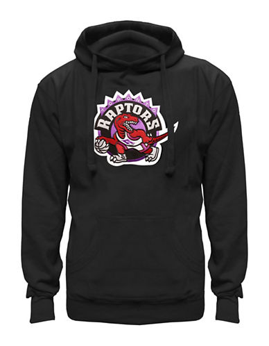 Majestic Toronto Raptors Tek Patch Hoodie-BLACK-Large