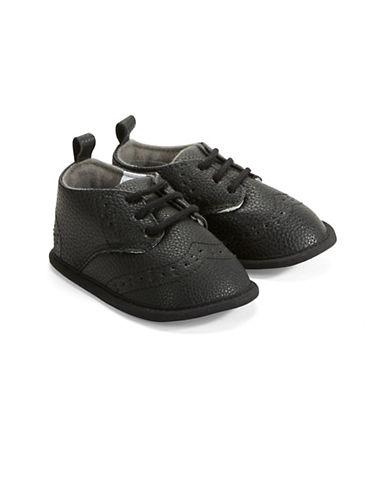 Little Me Wingtip Shoes-BLACK-6-9 Months
