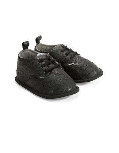 Little Me Leatherette Slip-On Oxfords-BLACK-9-12 Months