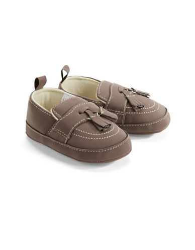 Little Me Faux Suede Loafers-BROWN-9-12 Months
