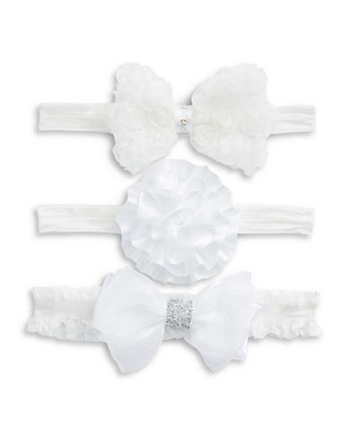 Little Me Three-Pack Headwrap Set-WHITE-18-24 Months
