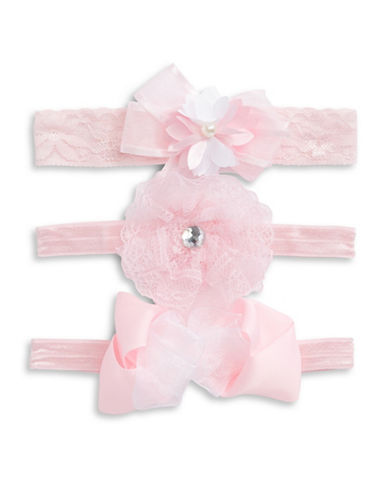 Little Me Three-Pack Headwrap Set-PINK-18-24 Months