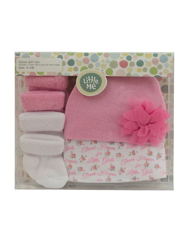 Little Me Thank Heaven Booties Set of Two Pairs-PINK-0-6 Months