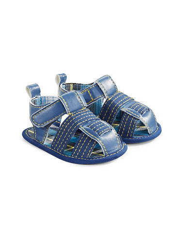 Little Me Open Concept Plaid Sandals-ASSORTED-9-12 Months