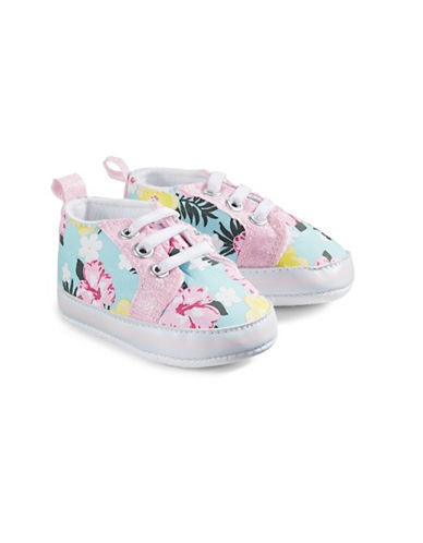 Little Me Floral Lace-Up Sneakers-ASSORTED-9-12 Months