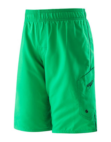 Speedo Marina Volley Board Shorts-GREEN-XX-Small
