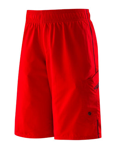 Speedo Marina Volley Board Shorts-RED-Small