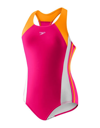 Speedo Infinity Splice One-Piece Swimsuit-PINK-8