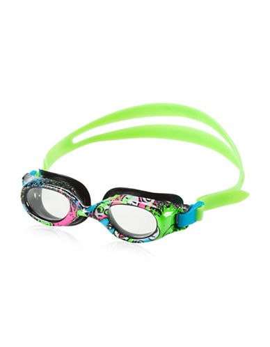 Speedo Jr. Hyrdospex Printed Goggles-BLACK-One Size