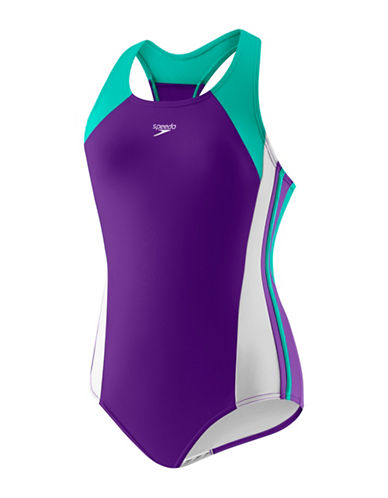 Speedo Infinity Splice One-Piece Swimsuit-PURPLE-10