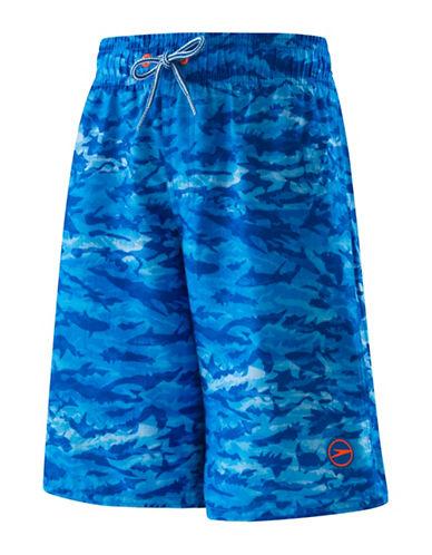 Speedo Sharkamo Swim Volley Shorts-BLUE-Small 89151525_BLUE_Small