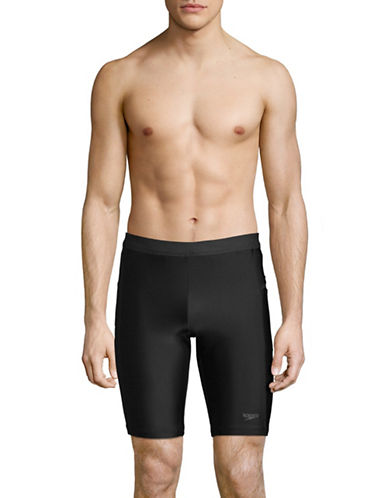 Speedo Jammer Swim Shorts-BLACK-X-Large