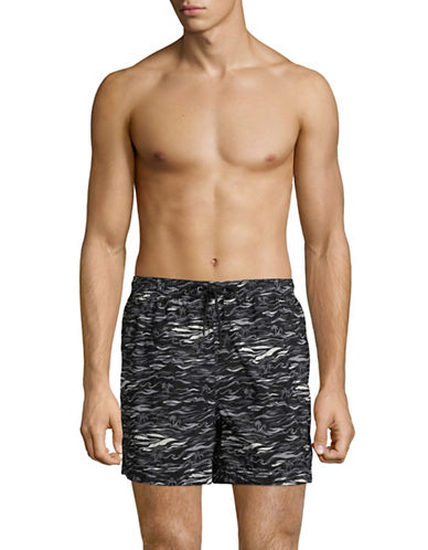 Speedo Current Shore Volley Swim Trunks-BLACK-Large