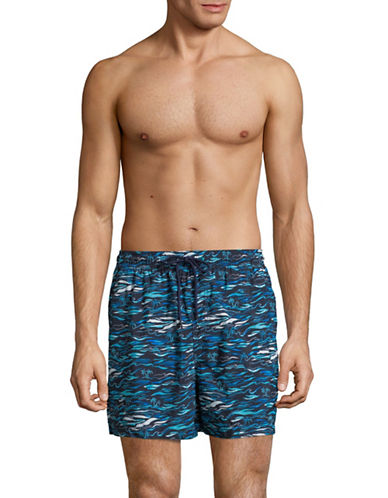 Speedo Current Shore Volley Swim Trunks-GREEN-Large