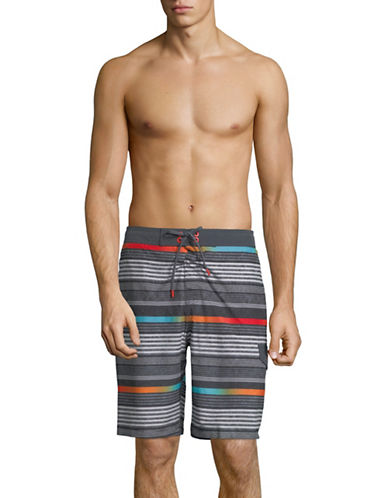 Speedo Ingrain Stripe Board Shorts-GREY-XX-Large