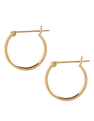 Fine Jewellery 14K Yellow Gold Tube Hoop Earrings-YELLOW GOLD-One Size