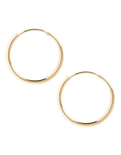 Fine Jewellery 14K Yellow Gold Endless Hoop Earrings-YELLOW GOLD-One Size