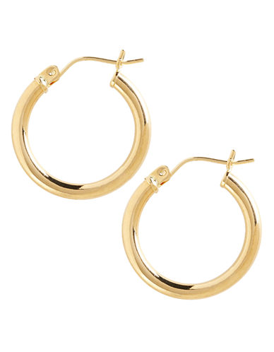 Fine Jewellery 14K Yellow Gold Tube Hoop Earring-YELLOW GOLD-One Size