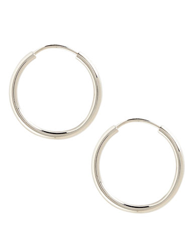 Fine Jewellery 14K White Gold Endless Hoop Earrings-WHITE GOLD-One Size