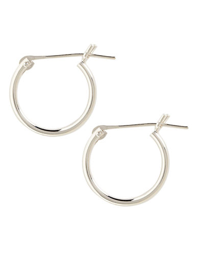 Fine Jewellery 14K White Gold Tube Hoop Earrings-WHITE GOLD-One Size