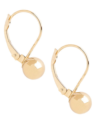Fine Jewellery 14K Yellow Gold Ball Leverback Earrings-YELLOW GOLD-One Size