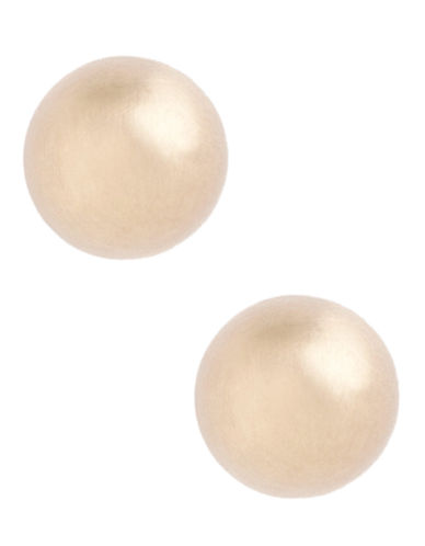 Fine Jewellery 14K Yellow Gold Satin Ball Earrings-YELLOW GOLD-One Size