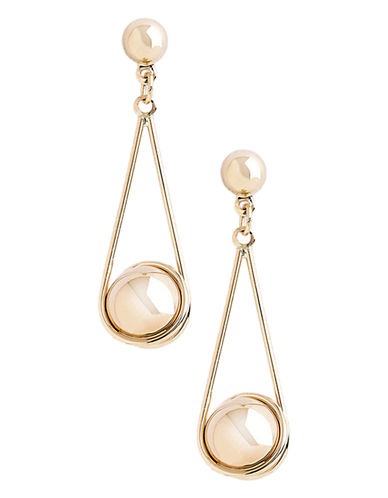 Fine Jewellery 14K Yellow Gold Teardrop Ball Earring-YELLOW GOLD-One Size