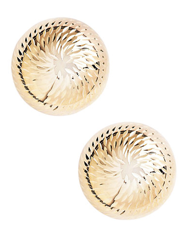 Fine Jewellery 14K Yellow Gold Dome Earrings-YELLOW GOLD-One Size