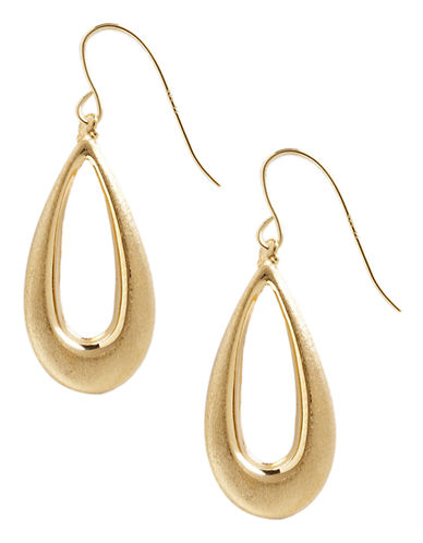 Fine Jewellery 14K Yellow Gold Satin Teardrop Earrings-YELLOW GOLD-One Size
