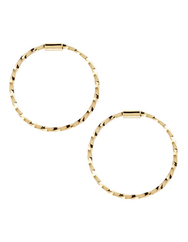 Fine Jewellery 14K Yellow Gold Twist Endless Hoop-YELLOW GOLD-One Size