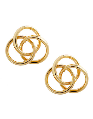 Fine Jewellery 14K Yellow Gold 3 Ring Polished Button Earrings-YELLOW GOLD-One Size
