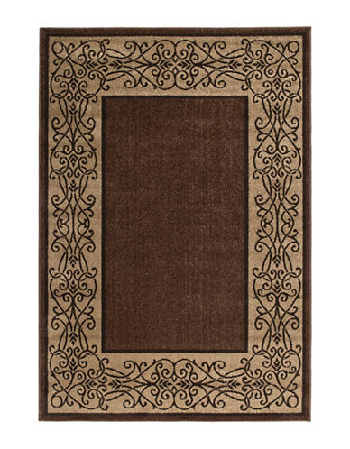 Home Outfitters 6x9 Iron Lattice Mink Outdoor Area Rug-MINK-6 x 9