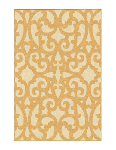 Home Outfitters Keywest Trellis Outdoor Area Rug-YELLOW-6 x 9